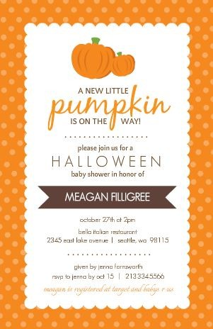 Halloween Baby Shower Ideas Invitations Food Decor And More - Halloween baby shower invitations
