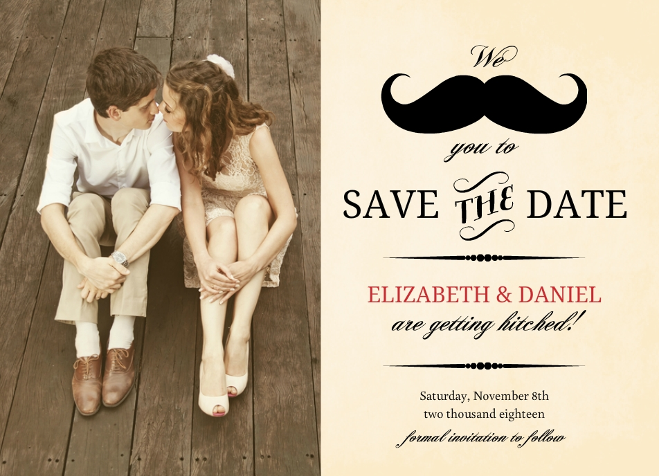 Vintage Save The Date Ideas Photos Wording DIY More Unique Ideas