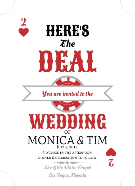 Vegas Wedding Invitations Invitation Wording Ideas Templates