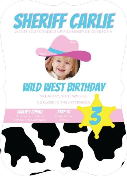 Cowgirl birthday party ideas invitations wording games decorations filmwisefo Images
