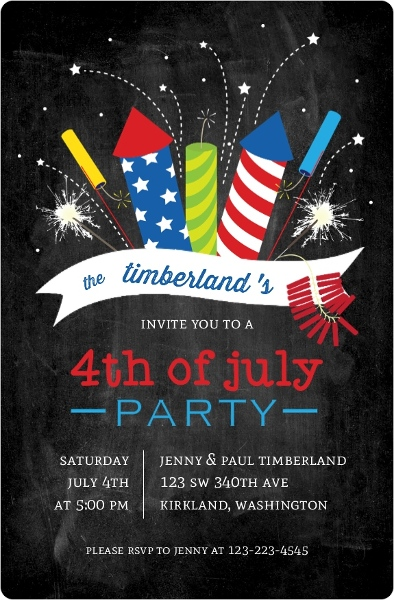 Fourth Of July Party Ideas Themes Invitations