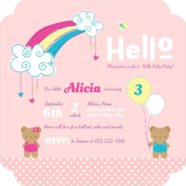 Hello kitty birthday party ideas invitations wording crafts 30 adorable cute hello kitty birthday party ideas filmwisefo Image collections
