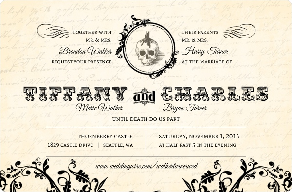 Halloween Wedding Invitation: Fall Wedding Themes: Harvest, Enchanted Forest, Halloween
