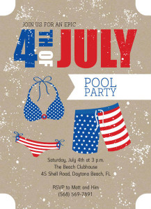 4th of July Summer Pool Party invitation by PurpleTrail.com