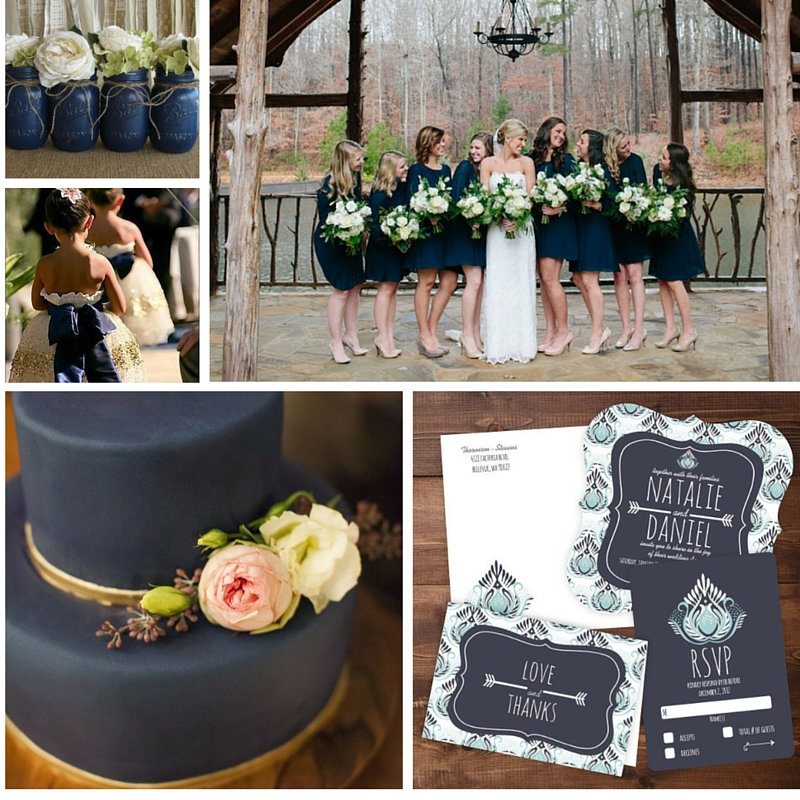 Rustic Wedding Color Ideas: Fall Wedding Ideas: A Rustic, September Wedding In Navy