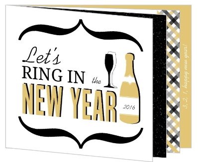Black Gold Modern New Years Invite by PurpleTrail.com