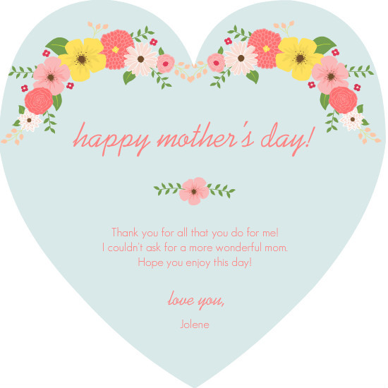 Celebrate Mom Mother's Day Card by PurpleTrail.com