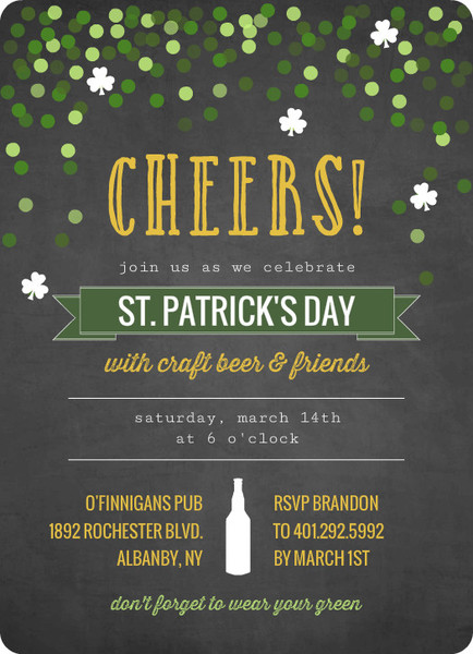 St. Patty's Day Cards and Invitations