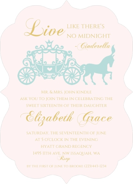 Royal Ball Sweet Sixteen Birthday Invitation by PurpleTrail.com