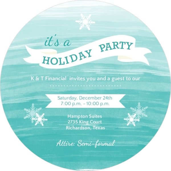 Business Holiday Party Invitations by PurpleTrail.com