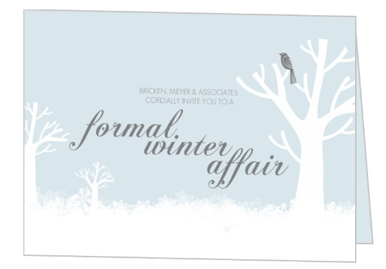 Formal Winter Holiday Party Invitation