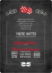 Las Vegas Wedding Invitations Invitation Wording Ideas Templates