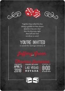 Las vegas wedding invitations invitation wording ideas templates stopboris Choice Image