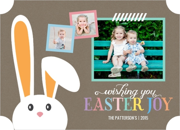 Whimsical Bunny Easter Card