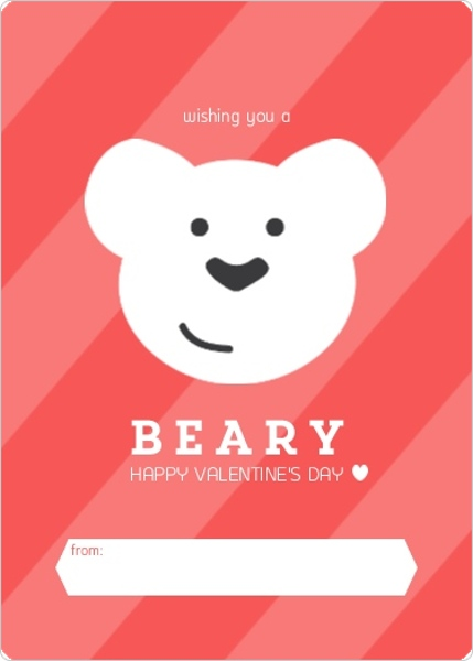 Wishing You A Beary Happy Valentines Day Card By Purpletrail.com