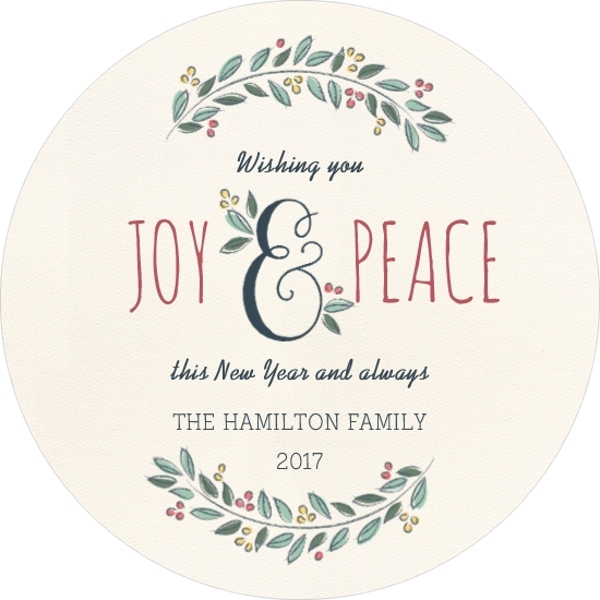 New Year\'s Card Wording and Ideas from PurpleTrail