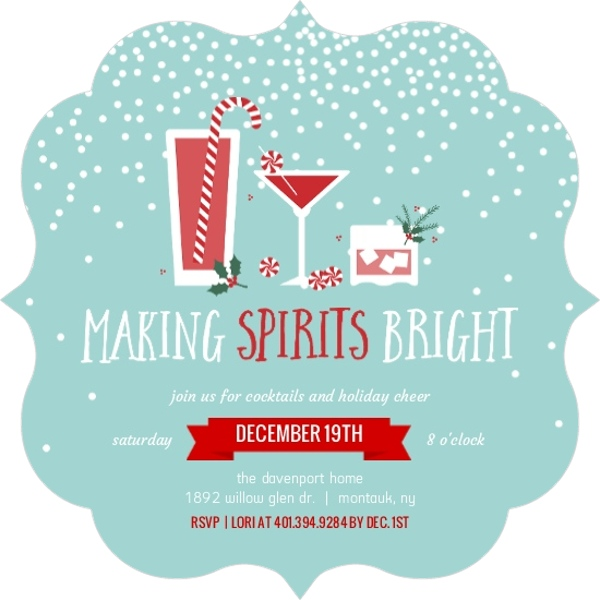 Holiday Invitation Wording From PurpleTrail – Funny Christmas Party Invitation Wording