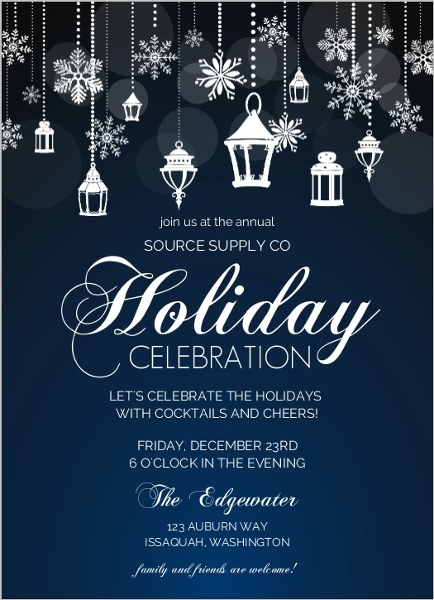 holiday office party invitation wording