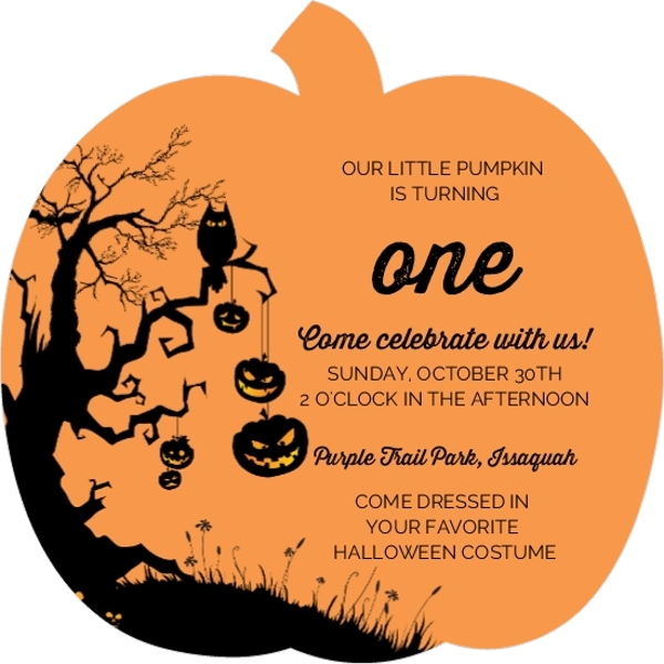 halloween 1st birthday pumpkin party ideas