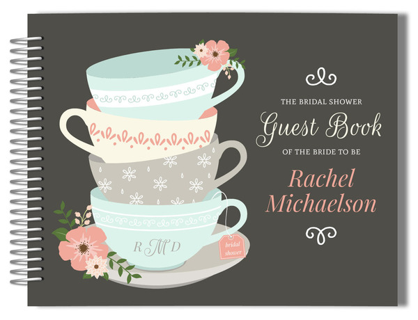 Charming Tea Cups Bridal Shower Guestbook