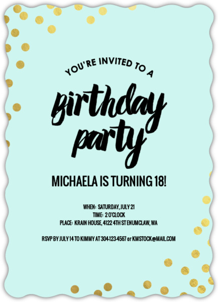18th birthday invitations from purpletrail foil stopboris Choice Image