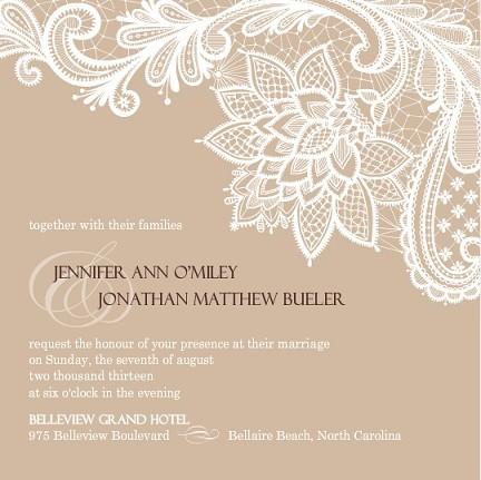 Lace Vintage Wedding Invitation