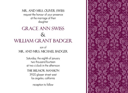 Elegant Wedding Invitation Templates: Elegant Wedding Invitations, Invitation Wording Examples