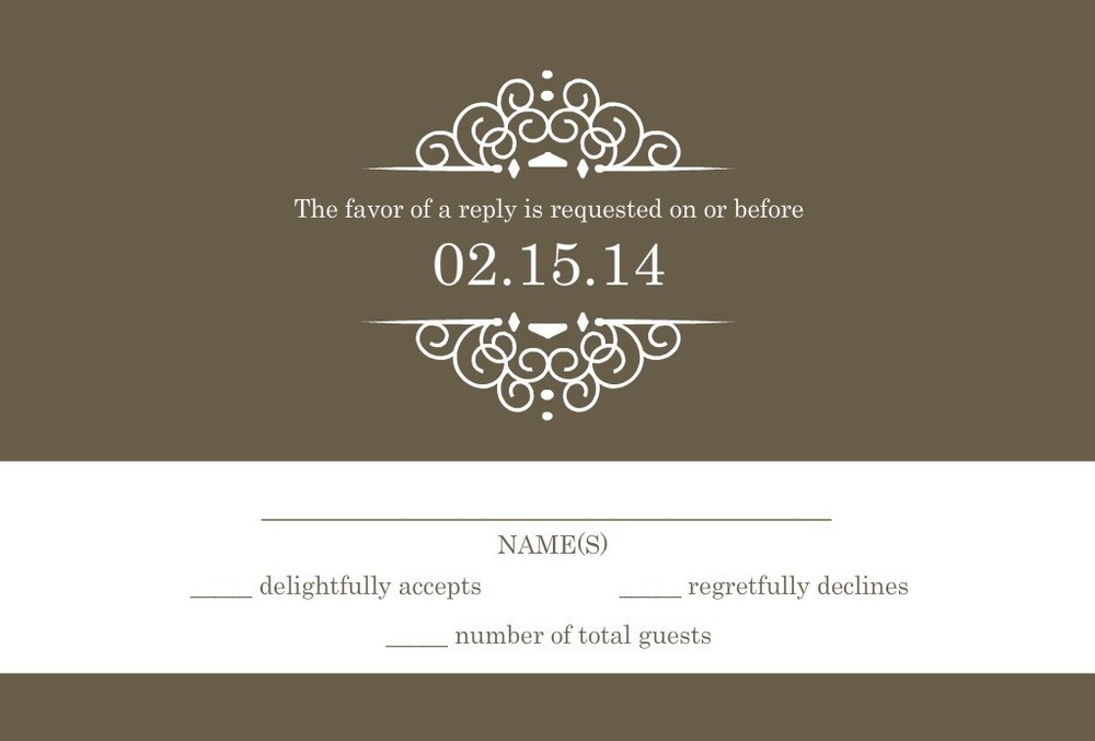 Wedding Invitation Wording Ideas: Wedding RSVP Wording -- Formal And Casual Wording You Will