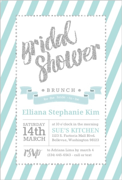 fun glitter typography bridal shower invitation card by weddingpaperiecom