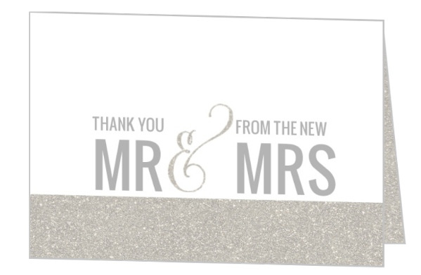 Wedding thank you card wording samples sayings etiquette ideas enchanted winter wonderland thank you card by weddingpaperie junglespirit Image collections