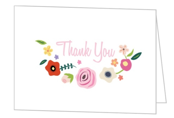 bright blossoms thank you card by weddingpaperiecom