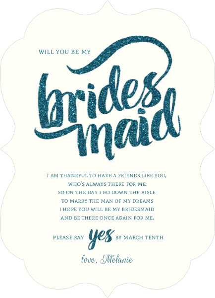Will You Be My Bridesmaid Ideas Will You Be My Bridesmaid