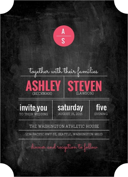 How to word wedding invitations invitation wording ideas etiquette modern rustic chalkboard wedding invitation by weddingpaperie filmwisefo