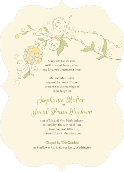 How to word wedding invitations invitation wording ideas etiquette whimsical summer floral wedding invitation by weddingpaperie stopboris Gallery