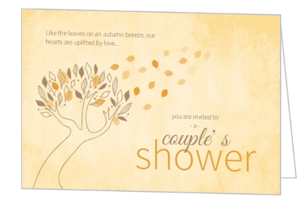fall leaves couples shower invitations by weddingpaperiecom