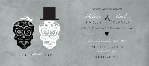 Day Of The Dead Wedding Gifts: Vintage Halloween Wedding Ideas, Themes, Invitations