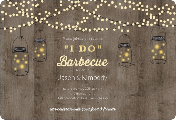 mason jar party lights couples shower invitations by weddingpaperiecom