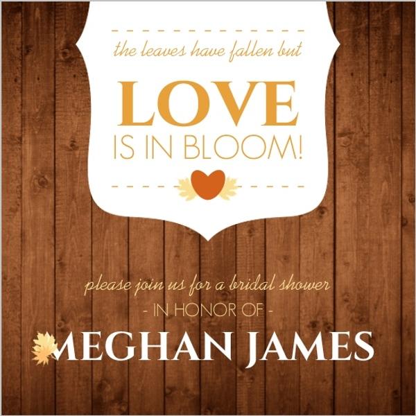 rustic fall leaves bridal shower invitations by weddingpaperiecom