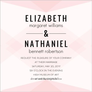 Unique wedding invitation wording ideas wedding ideas tips wordings geometric pink blush pattern wedding invitation35401376911large filmwisefo