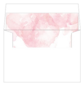 pink modern envelope liner by Wedding Paperie.