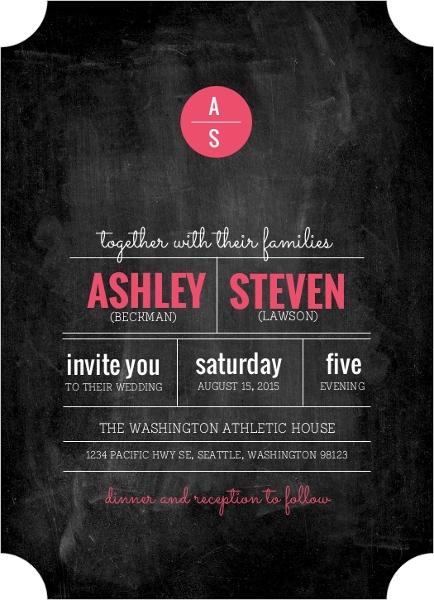 Modern Rustic Chalkboard Wedding Invitation 22949 2188 1 Large Ticket