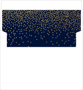 midnight stars envelope liner by Wedding Paperie.